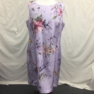 Adrianna Papell Lavender Purple Floral Shift Dress